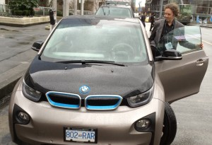 BMW electric car test drive
